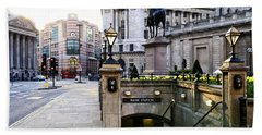 Bank Station Entrance In London Hand Towel by Elena Elisseeva