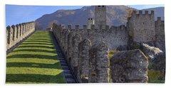 Bellinzona - Castelgrande Hand Towel by Joana Kruse