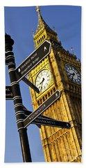 Big Ben Clock Tower Hand Towel by Elena Elisseeva