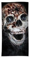 Bloody Skull Hand Towel by Joana Kruse