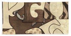 Bohemian Peace Hand Towel by Debbie DeWitt