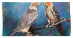 Coctaiel Parrots Hand Towel by Ylli Haruni