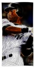Derek Jeter New York Yankee Hand Towel by Paul Ward