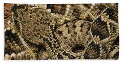 Eastern Diamondback Rattlesnake Hand Towel by Gerry Ellis