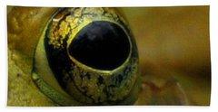 Eye Of Frog Hand Towel by Paul Ward