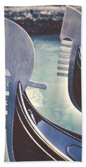 gondolas - Venice Hand Towel by Joana Kruse
