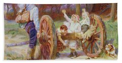 Happy As The Days Are Long Hand Towel by Frederick Morgan
