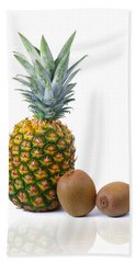 Pineapple And Kiwis Hand Towel by Carlos Caetano