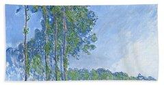 Poplars Hand Towel by Claude Monet