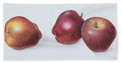 Red Apples Hand Towel by Margaret Ann Eden