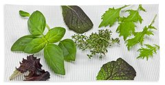 Salad Greens And Spices Hand Towel by Joana Kruse