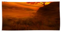 Sunset Duet Hand Towel by Lourry Legarde