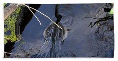 Swimming Bird Hand Towel by David Lee Thompson