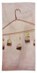 Tea Bags Hand Towel by Priska Wettstein