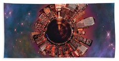 Wee Manhattan Planet Hand Towel by Nikki Marie Smith