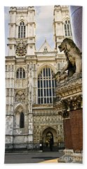 Westminster Abbey Hand Towel by Elena Elisseeva