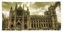 Westminster Abbey Hand Towel by Rob Hawkins