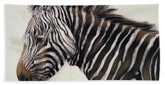 Zebra  Hand Towel by Odile Kidd