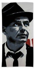 - Sinatra - Hand Towel by Luis Ludzska