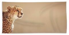 Cheetah Portrait Hand Towel by Johan Swanepoel