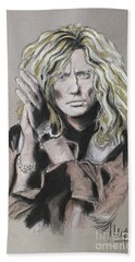 David Coverdale Hand Towel by Melanie D