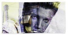 Elvis Presley Sun Studio Collection Hand Towel by Marvin Blaine