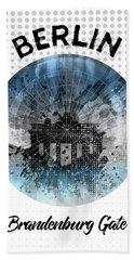 Graphic Art Berlin Brandenburg Gate Hand Towel by Melanie Viola