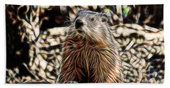 Groundhog Hand Towel by Marvin Blaine