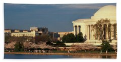 Panoramic View Of Jefferson Memorial Hand Towel by Panoramic Images