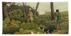 Pheasant Shooting Hand Towel by Henry Thomas Alken
