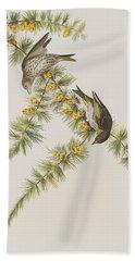 Pine Finch Hand Towel by John James Audubon