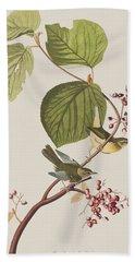 Pine Swamp Warbler Hand Towel by John James Audubon