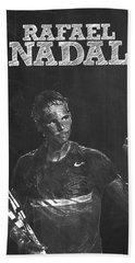 Rafael Nadal Hand Towel by Semih Yurdabak