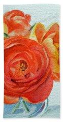 Ranunculus Hand Towel by Irina Sztukowski