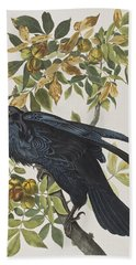 Raven Hand Towel by John James Audubon