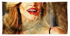 Robyn Rihanna Fenty - Rihanna Hand Towel by Sir Josef - Social Critic - ART