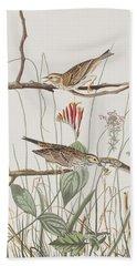 Savannah Finch Hand Towel by John James Audubon