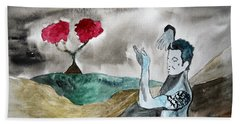 Scott Weiland - Stone Temple Pilots - Music Inspiration Series Hand Towel by Carol Crisafi