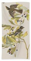 Small Green Crested Flycatcher Hand Towel by John James Audubon