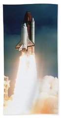 Space Shuttle Launch Hand Towel by NASA Science Source