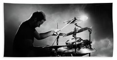 The Drummer Hand Towel by Johan Swanepoel