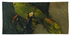 The Green Parrot Hand Towel by Vincent Van Gogh