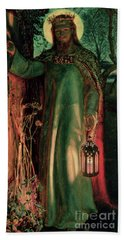 The Light Of The World Hand Towel by William Holman Hunt