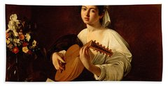 The Lute-player Hand Towel by Caravaggio