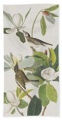Warbling Flycatcher Hand Towel by John James Audubon