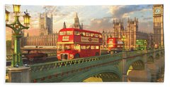Westminster Bridge Hand Towel by Dominic Davison