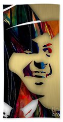 Frank Sinatra Collection Hand Towel by Marvin Blaine
