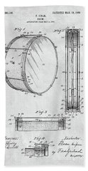 1908 Drum Patent Illustration Hand Towel by Dan Sproul