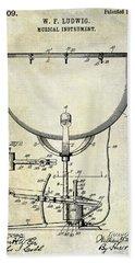 1913 Ludwig Drum Patent  Hand Towel by Jon Neidert