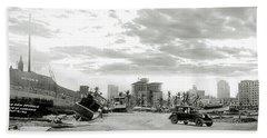 1926 Miami Hurricane  Hand Towel by Jon Neidert